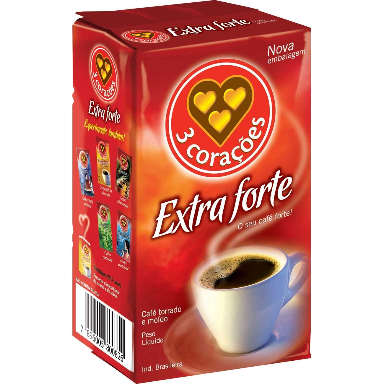 Cafe 3 Coracoes 500G Vacuo Extra Forte