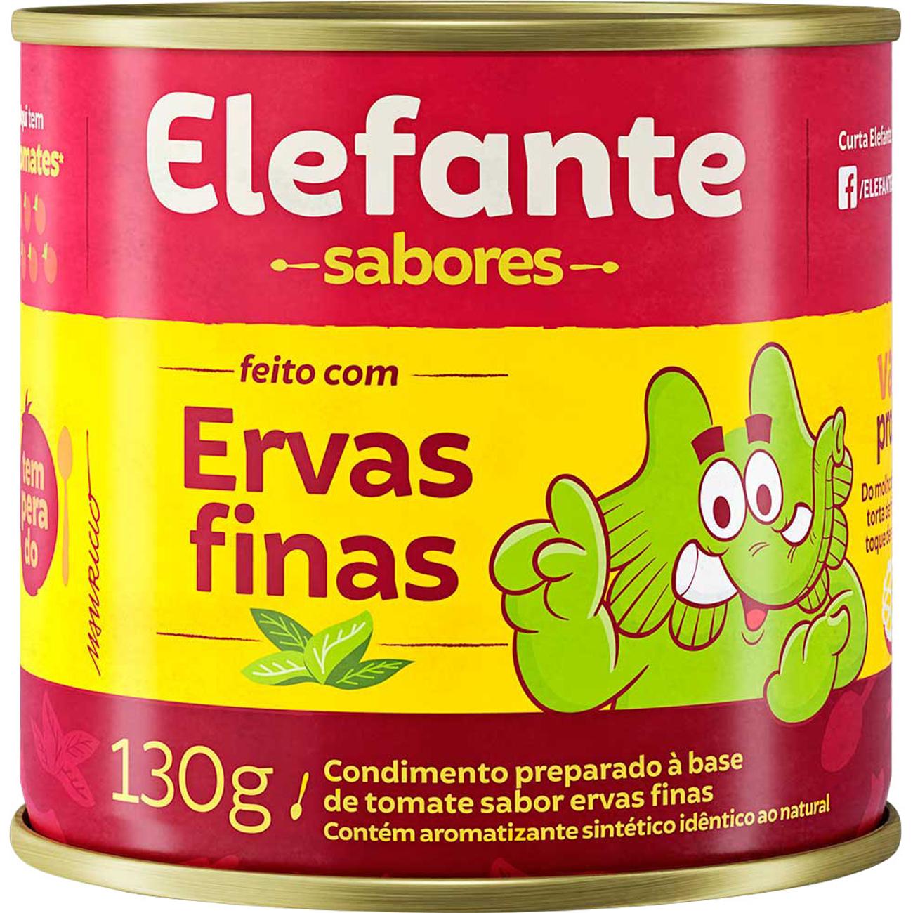 Extrato De Tomate Elefante Ervas Finas 130g