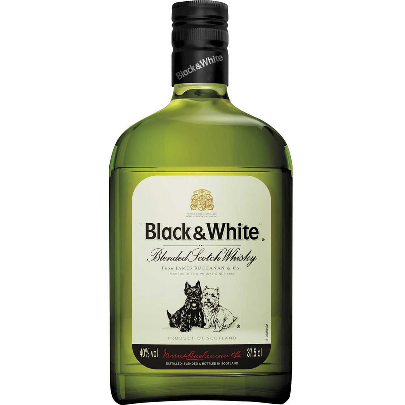 Whisky Black E White 375Ml