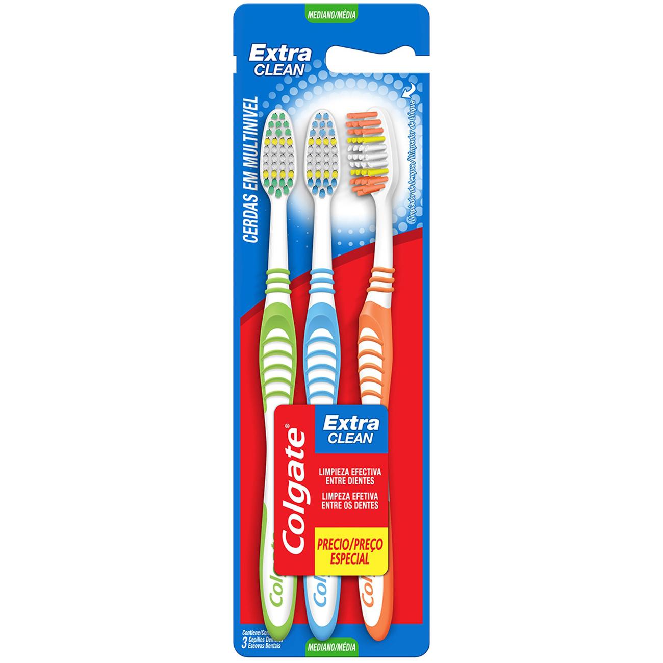 Escova Dental Colgate Extra Clean Macia 3Un Lv 3 Pg 2