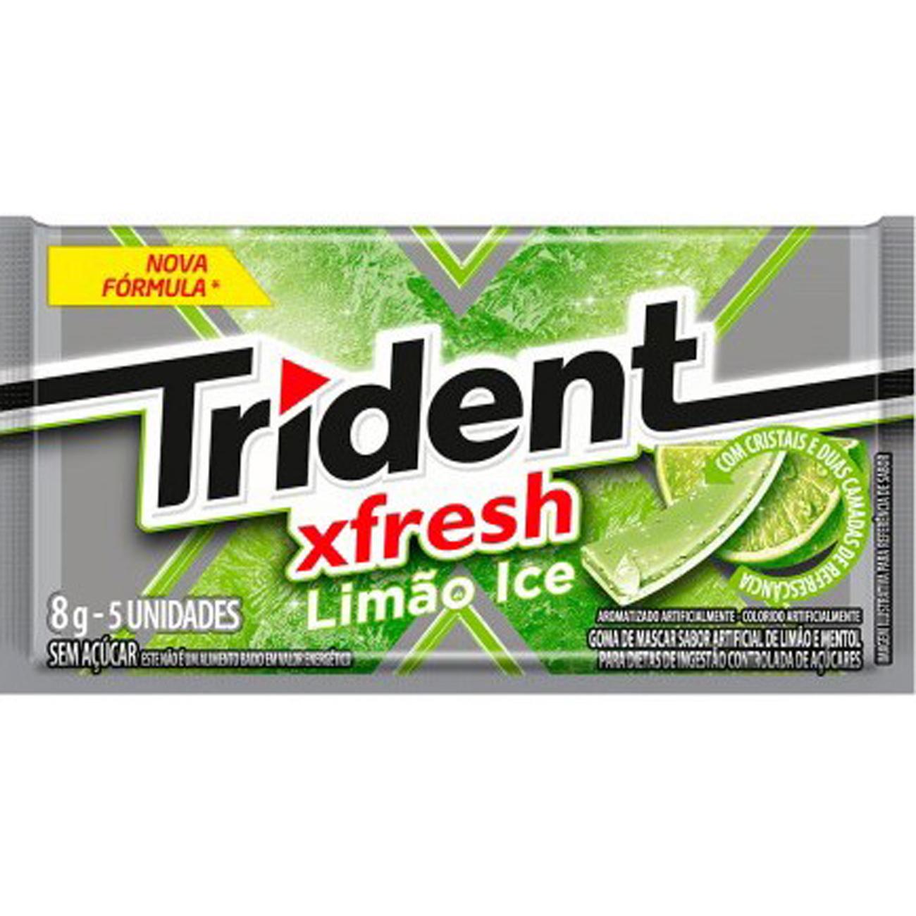 Chiclete Trident 8G Limao Ice