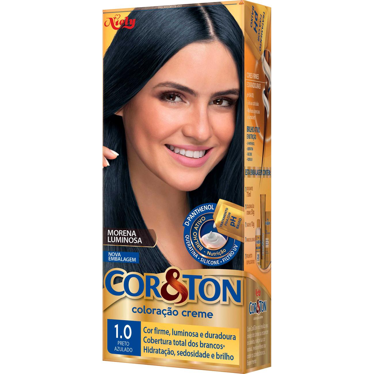 Tintura Cor&Ton Ind125G 10 Preto Azul