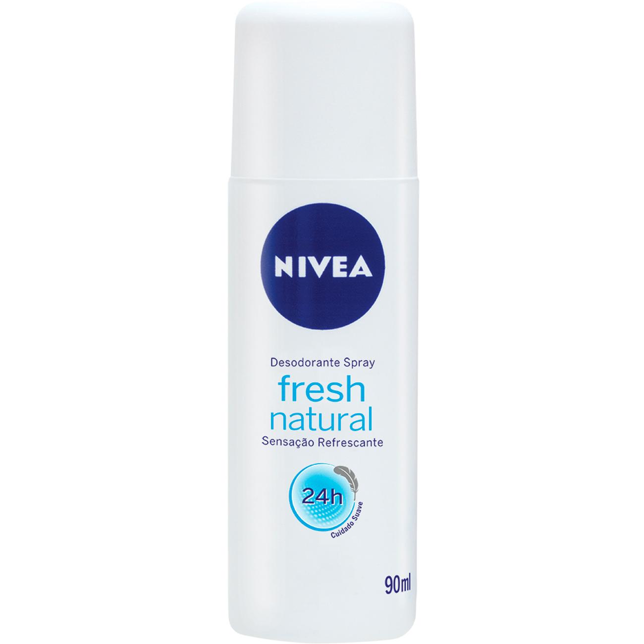 Desodorante Spray Nivea Feminino Fresh Natural 90Ml