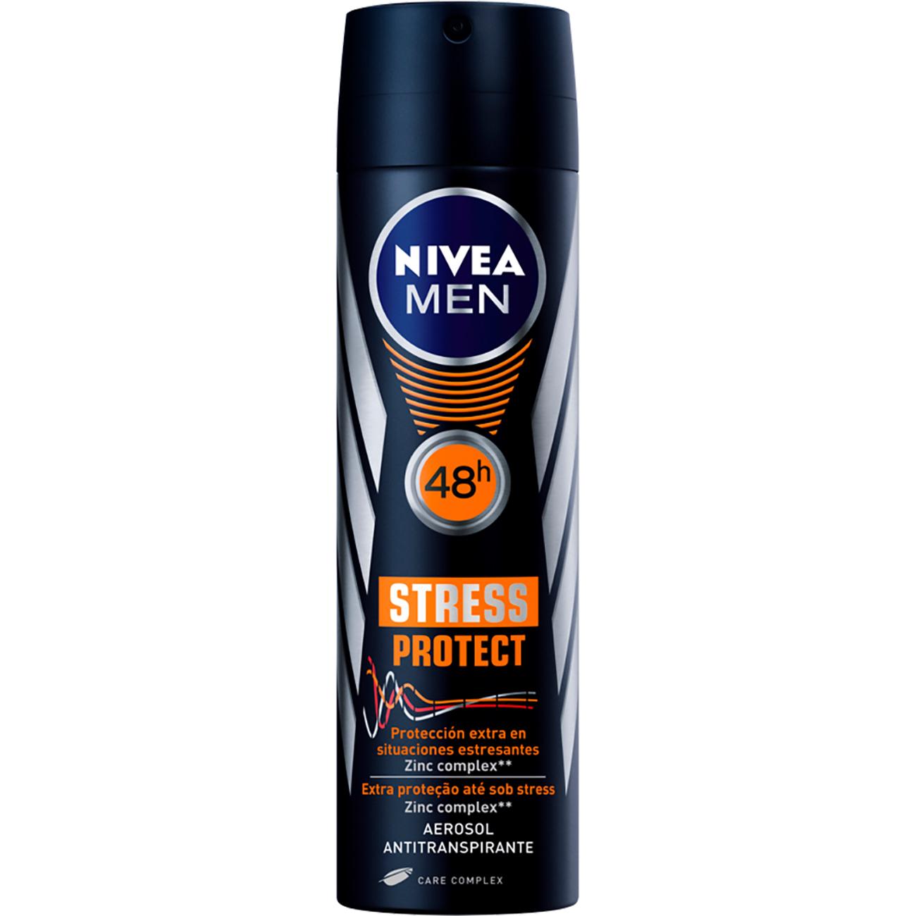 Desodorante Aerosol Nivea Masculino Stress Protect 150Ml