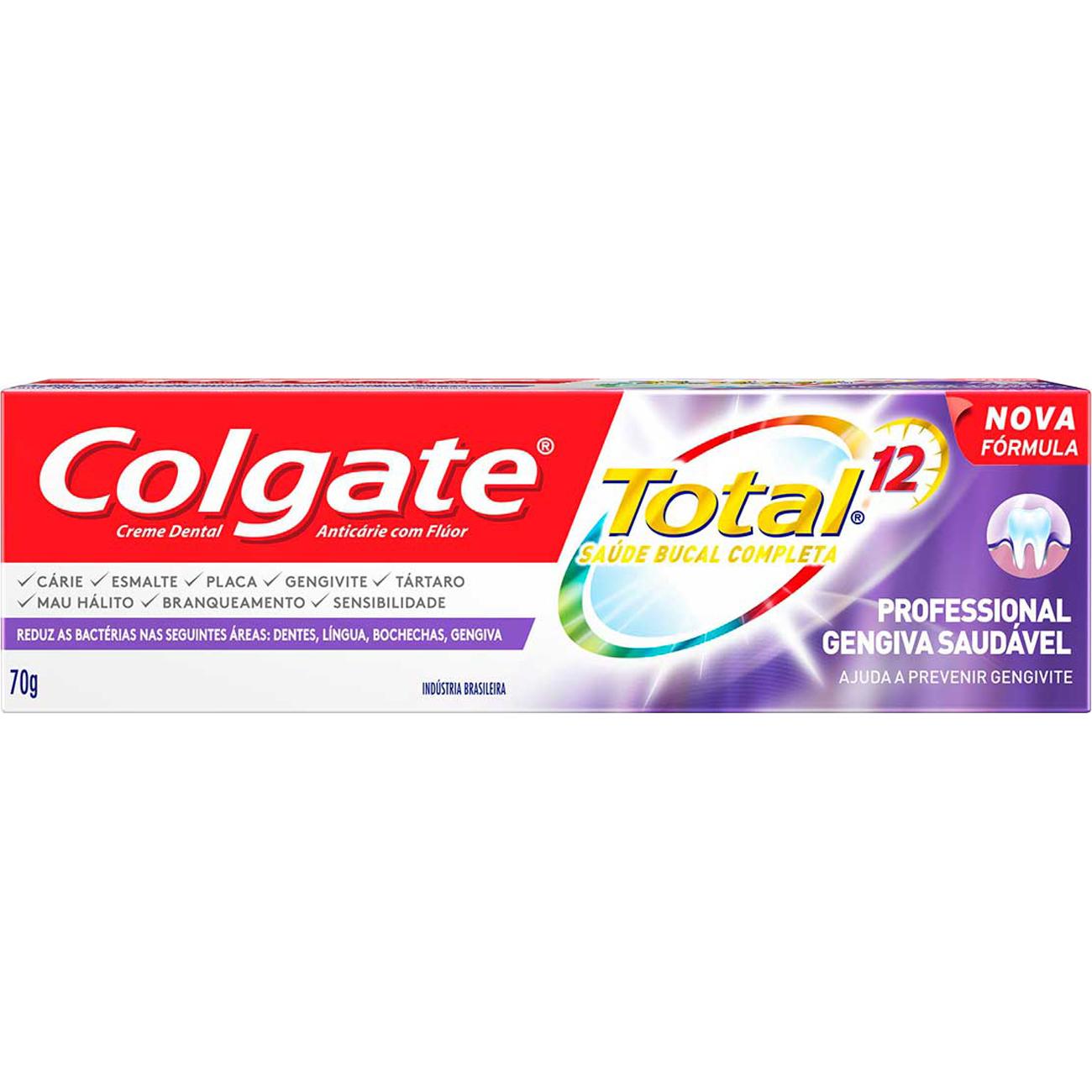 Creme Dental Colgate Total 12 Professional Gengiva Saud