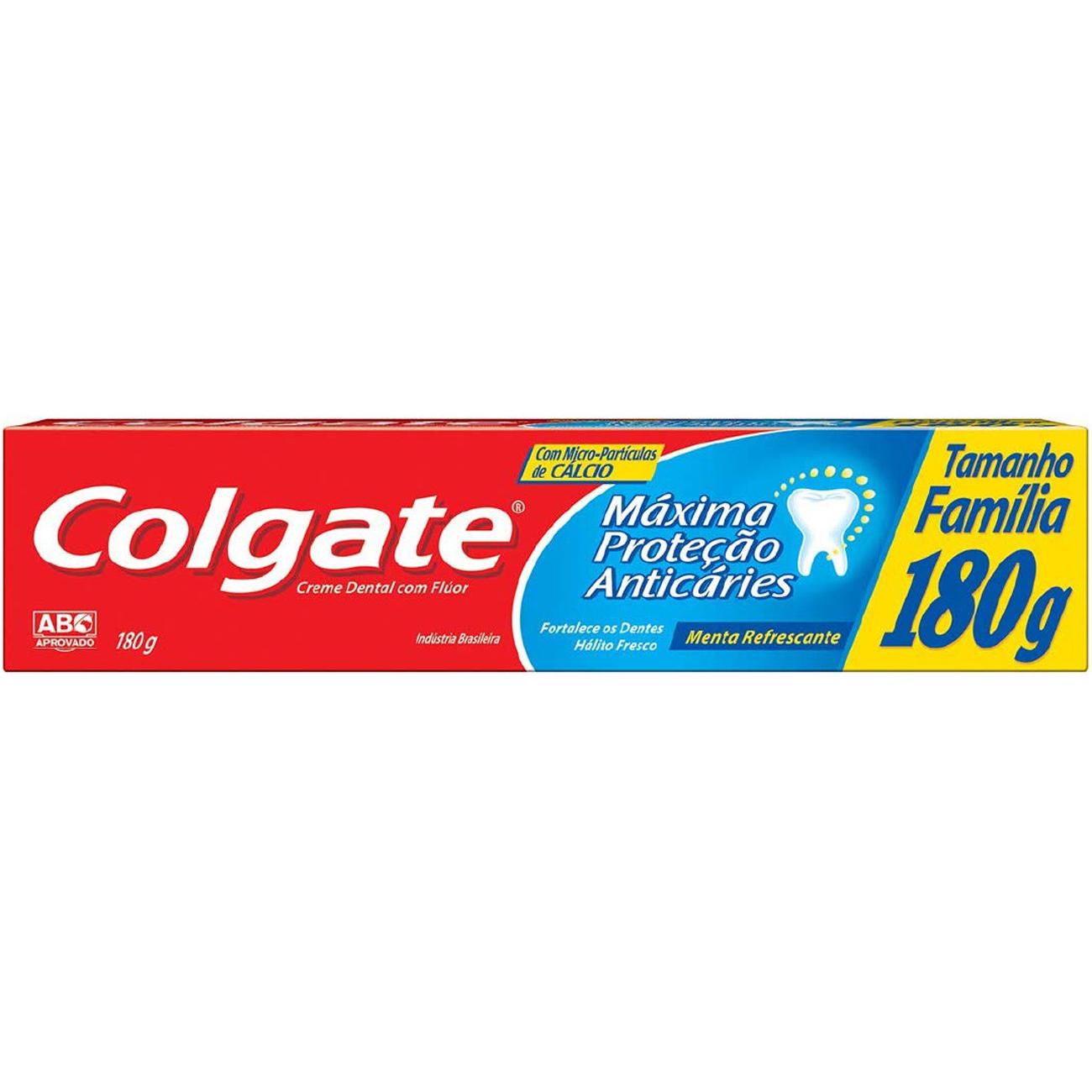 Creme Dental Colgate Maxima Protecao Anticaries 180G