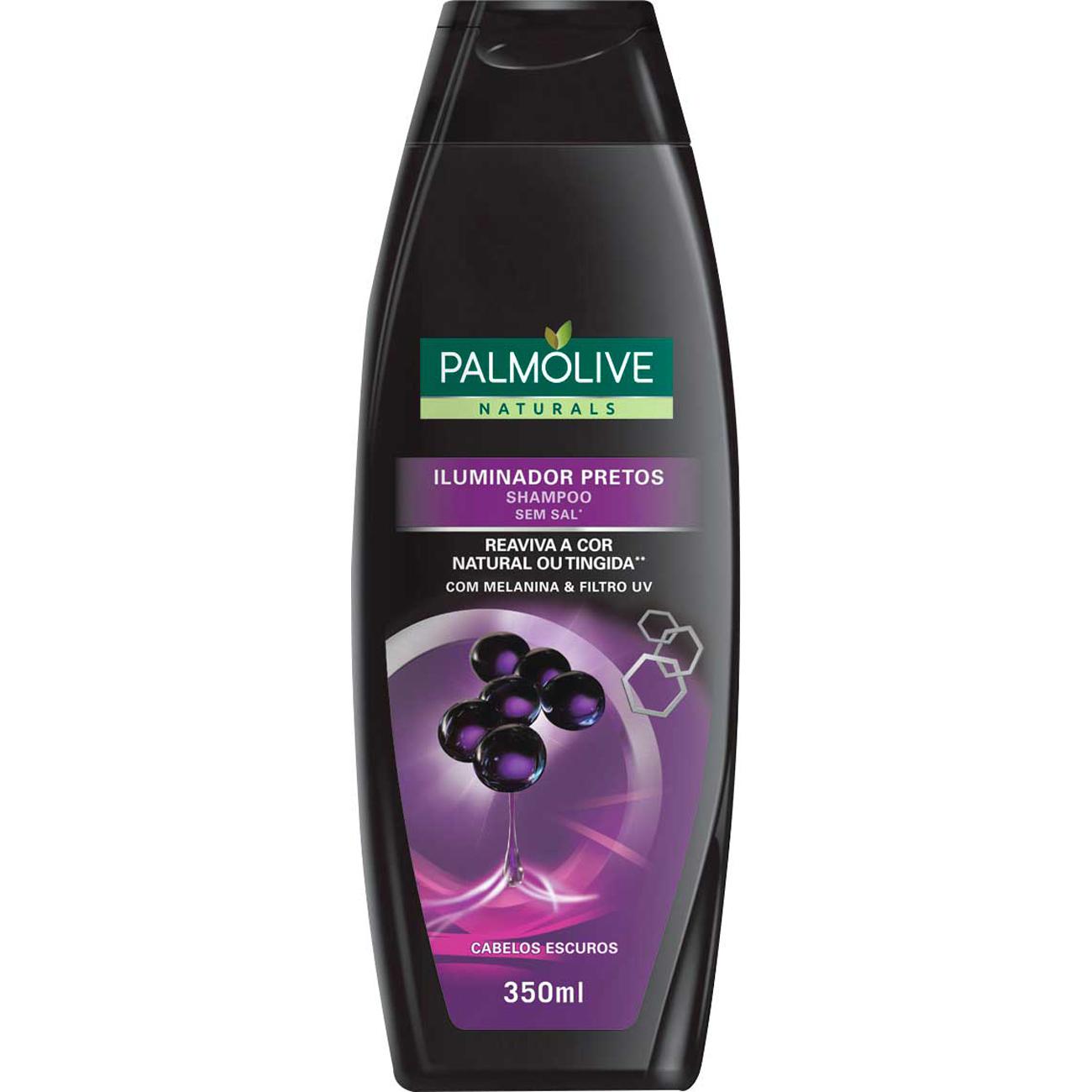 Shampoo Palmolive Naturals Iluminador Pretos 350Ml