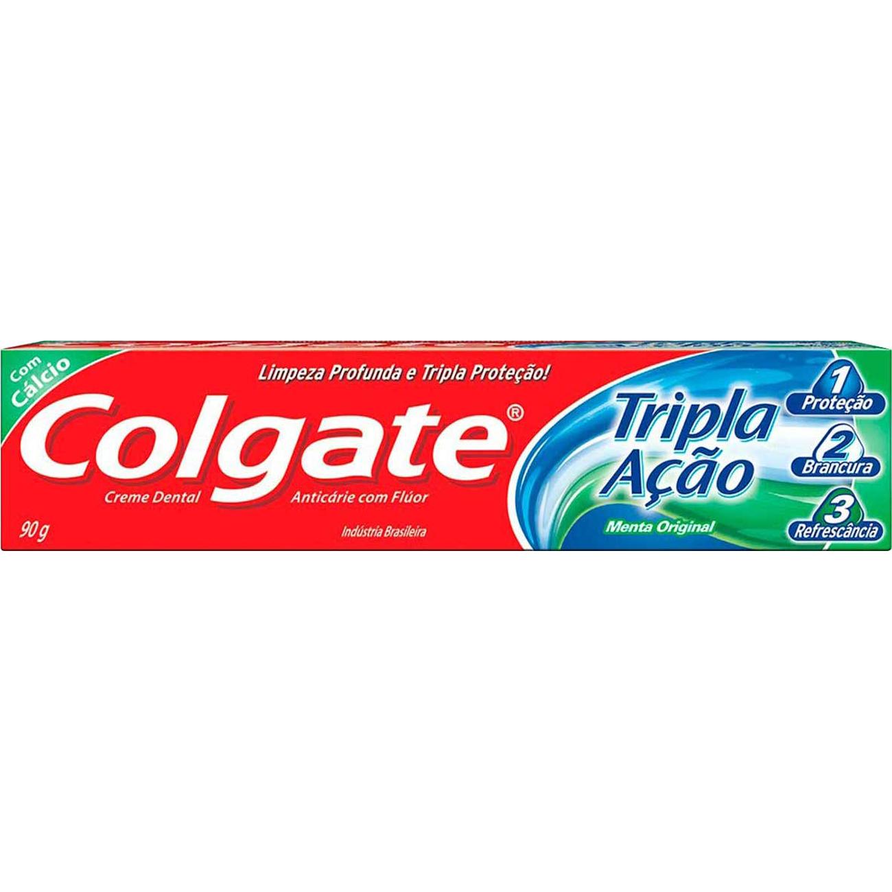 Creme Dental Colgate Tripla Acao Menta Original 90G