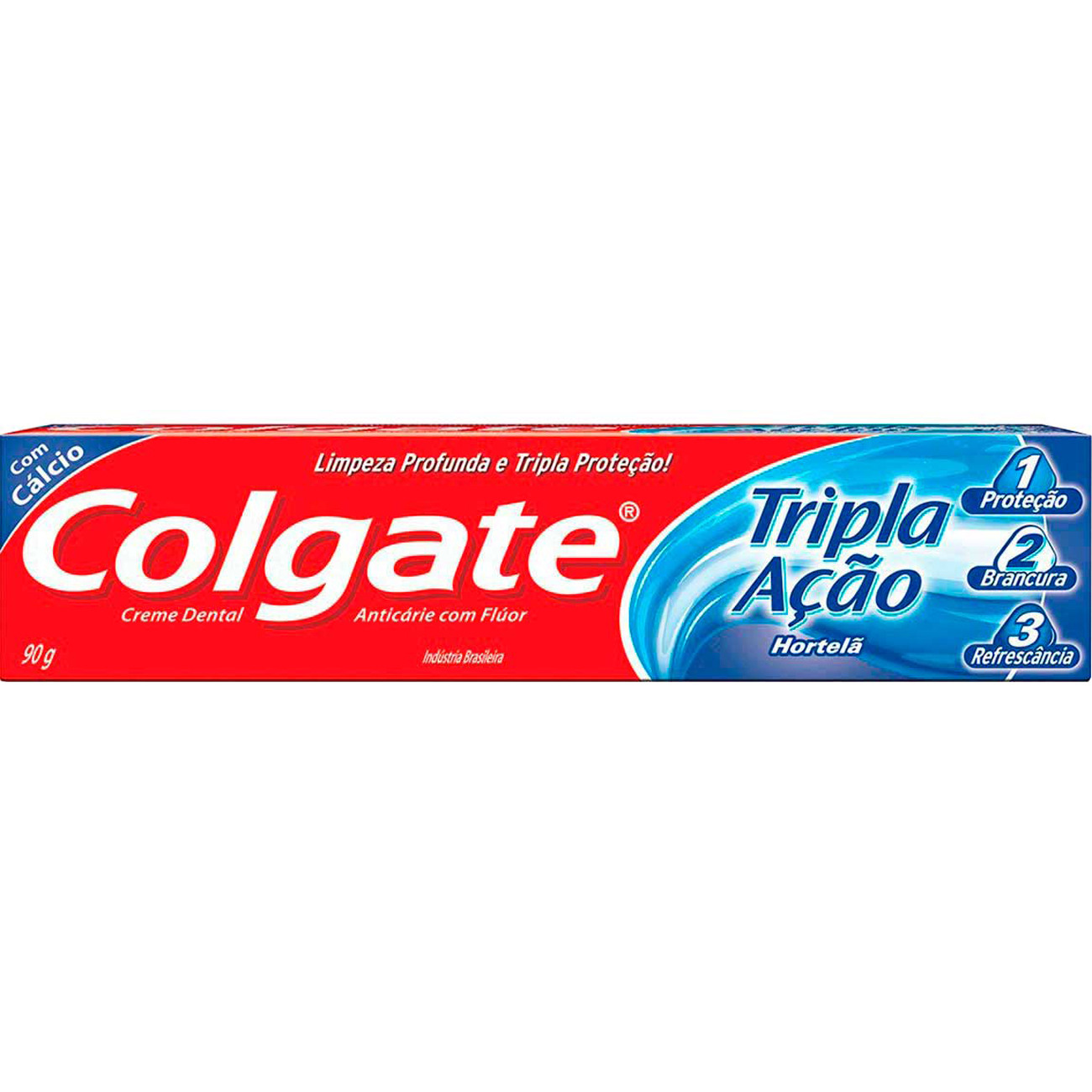 Creme Dental Colgate Tripla Acao Hortela 90G