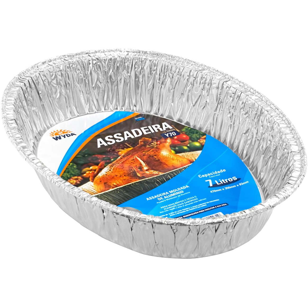 Assadeira Aluminio Moldada Wyda 7000Ml