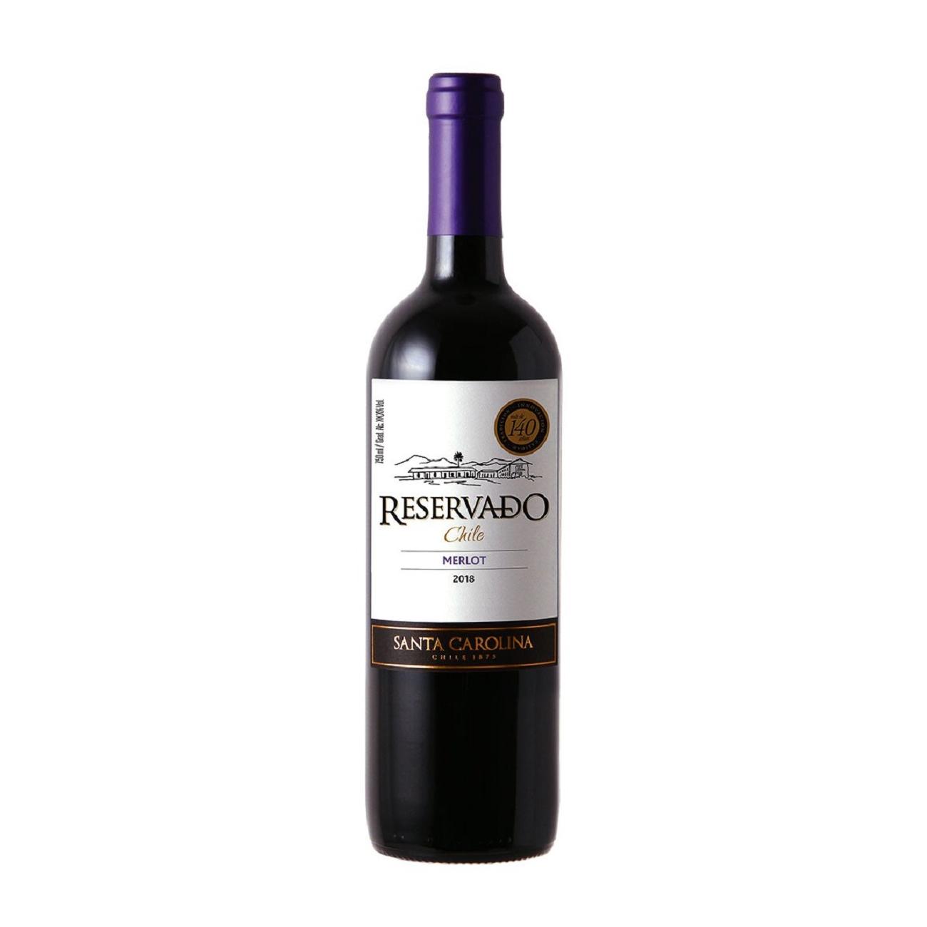 Vinho Santa Carolina Reservado Merlot Tinto 750ml
