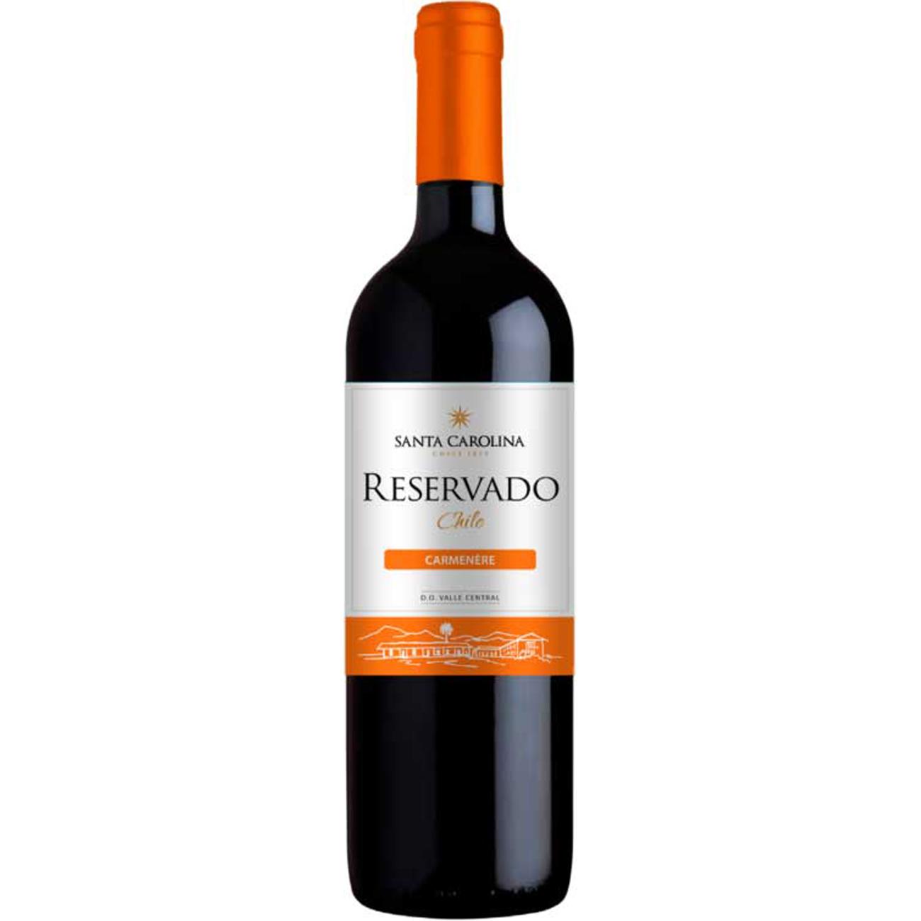 Vinho Santa Carolina Reservado Carmenere Tinto 750ml