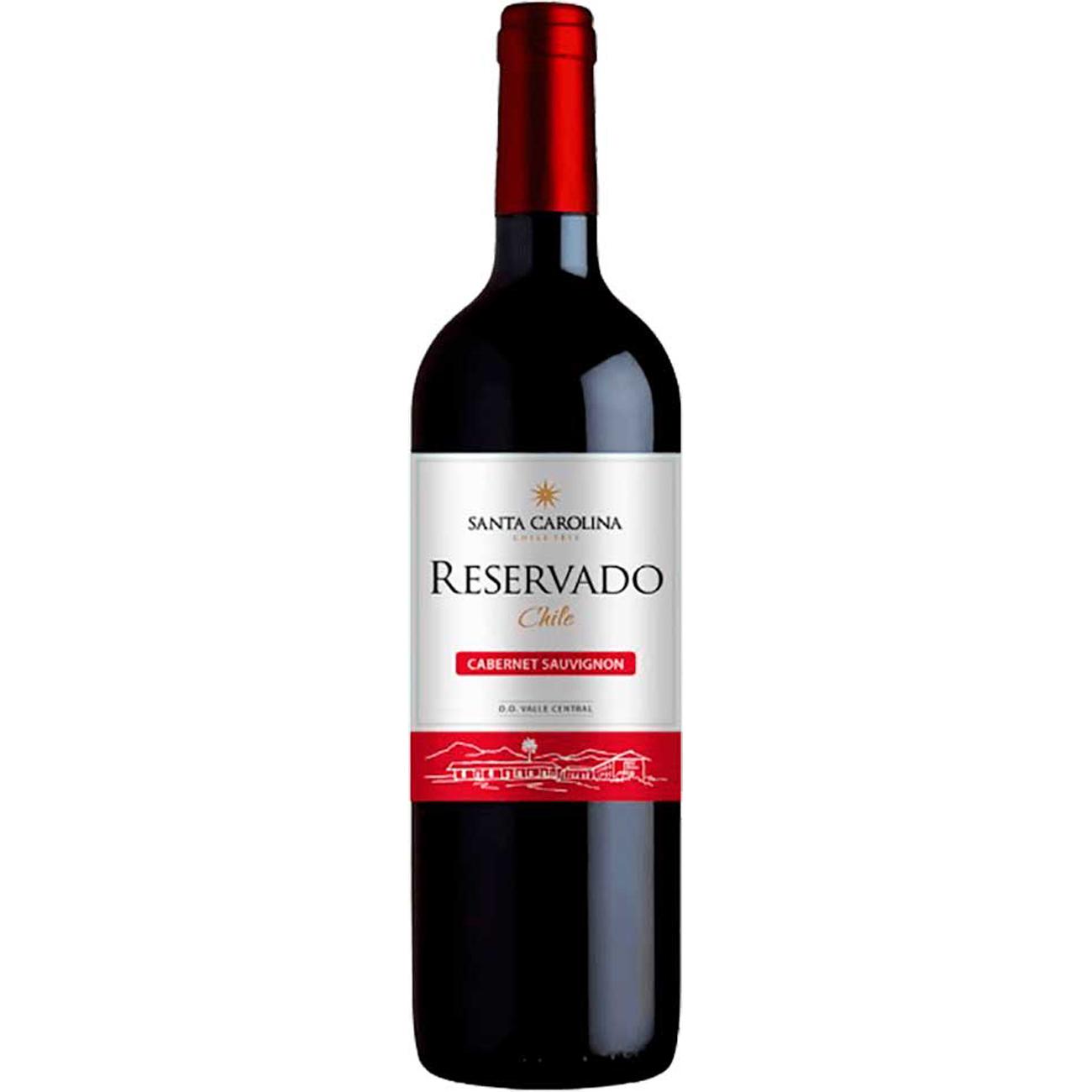 Vinho Santa Carolina Reservado Cabernet Sauvignon/Carmenere Tinto 750Ml
