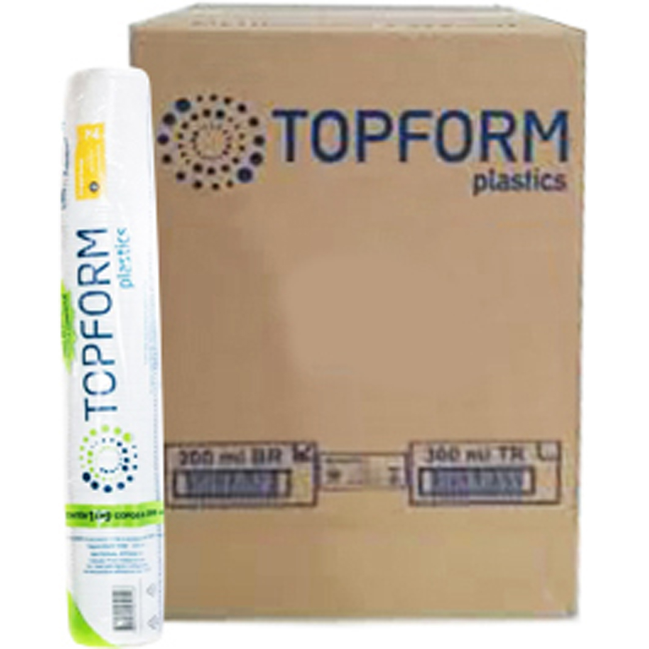 Copo Descartavel Topform Agua 200Ml 100Un Transpele