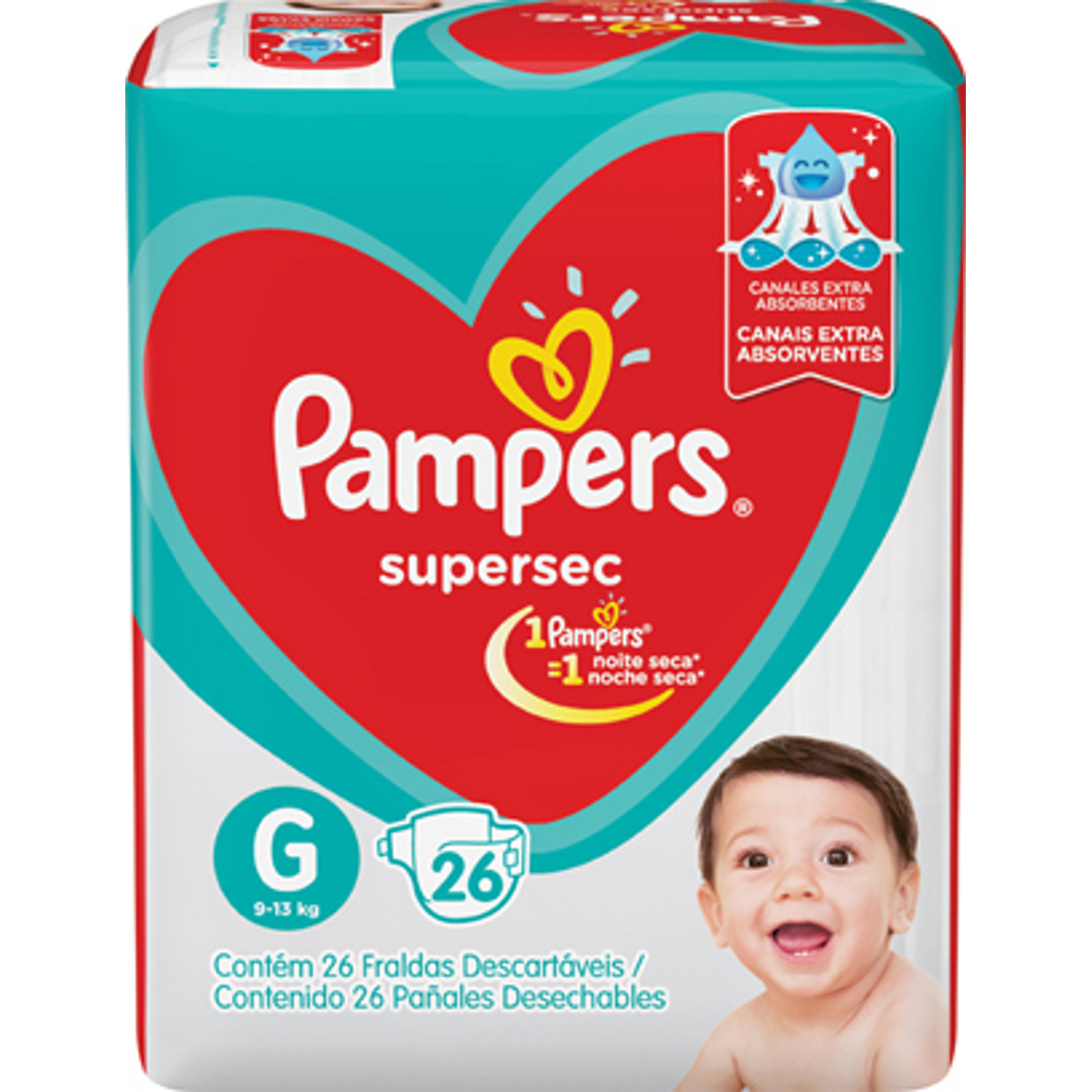 Fralda Pampers Supersec Pacotao G 26Un