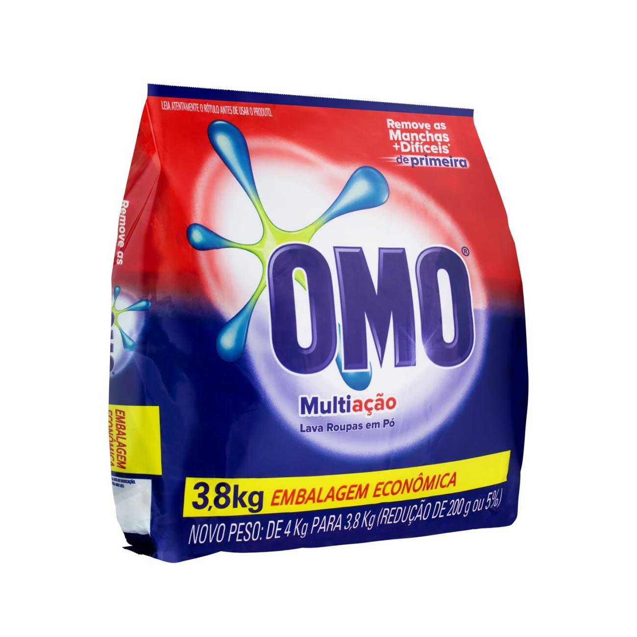 Detergente em Po Omo Multiacao 3,8 Kg