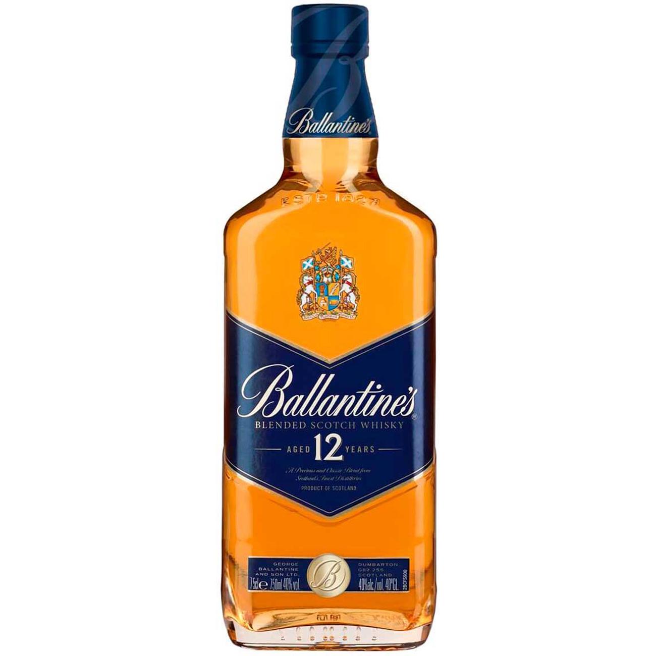 Whisky Ballantines 12 Anos 750ml