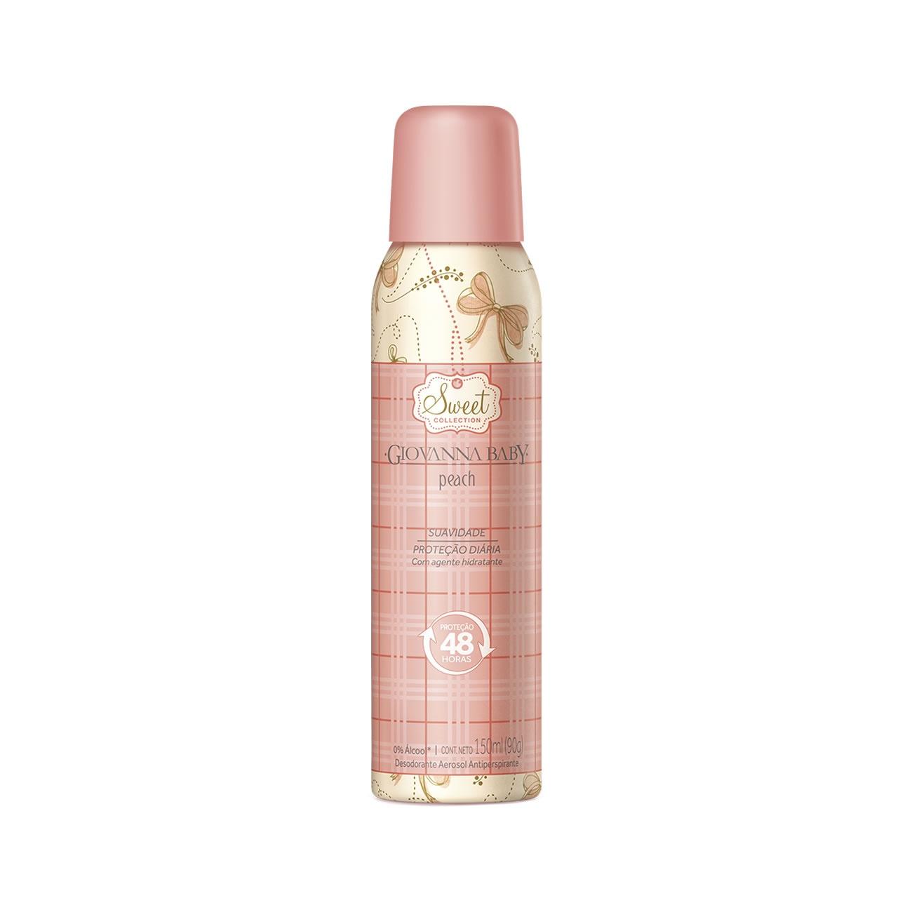 Desodorante Giovanna Baby Aerosol Peach 150ml
