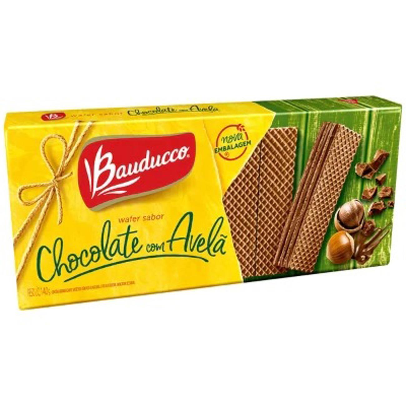 Biscoito Bauducco140G Wafer Chocolate Avela