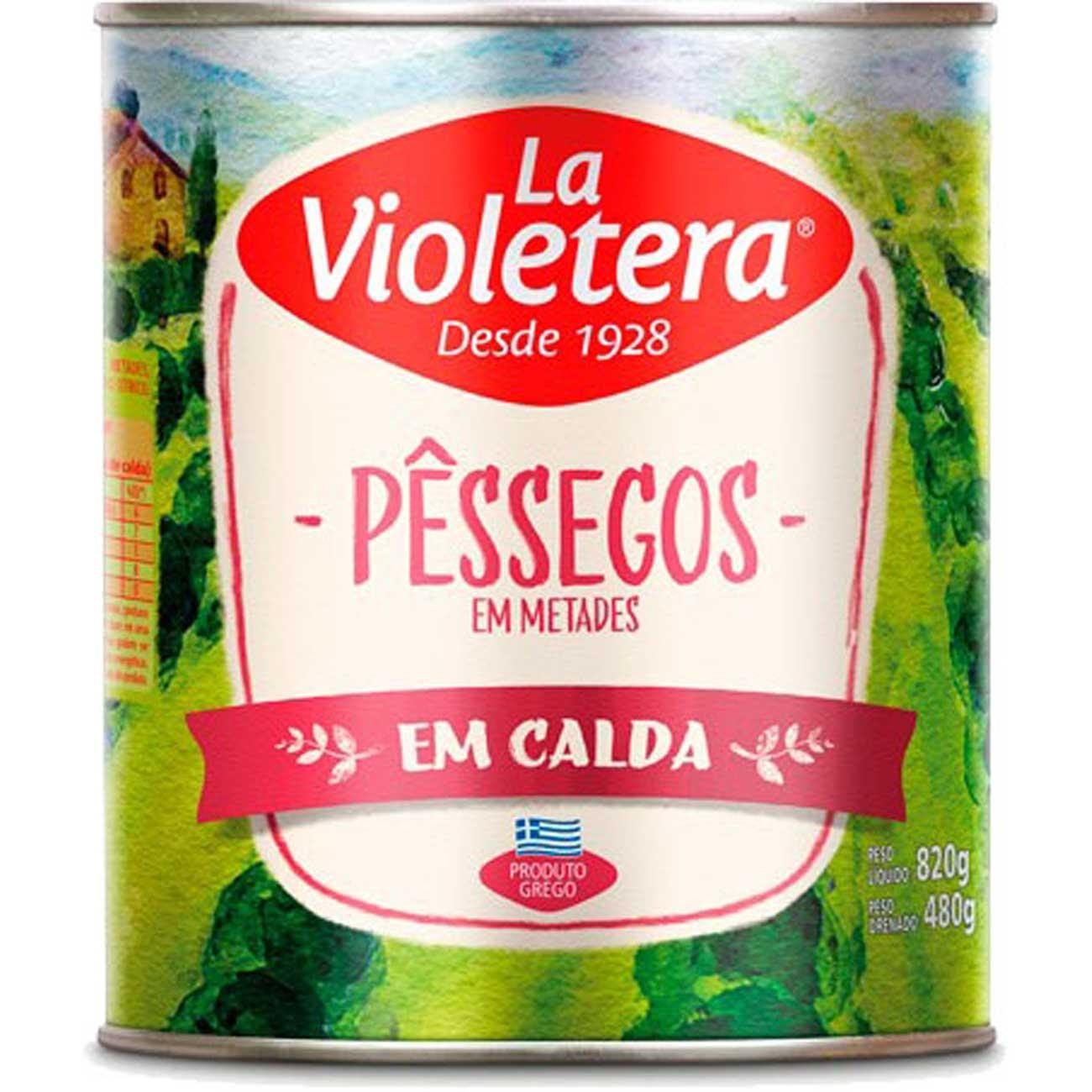 PESSEGO CALDA LA VIOLETERA 480G