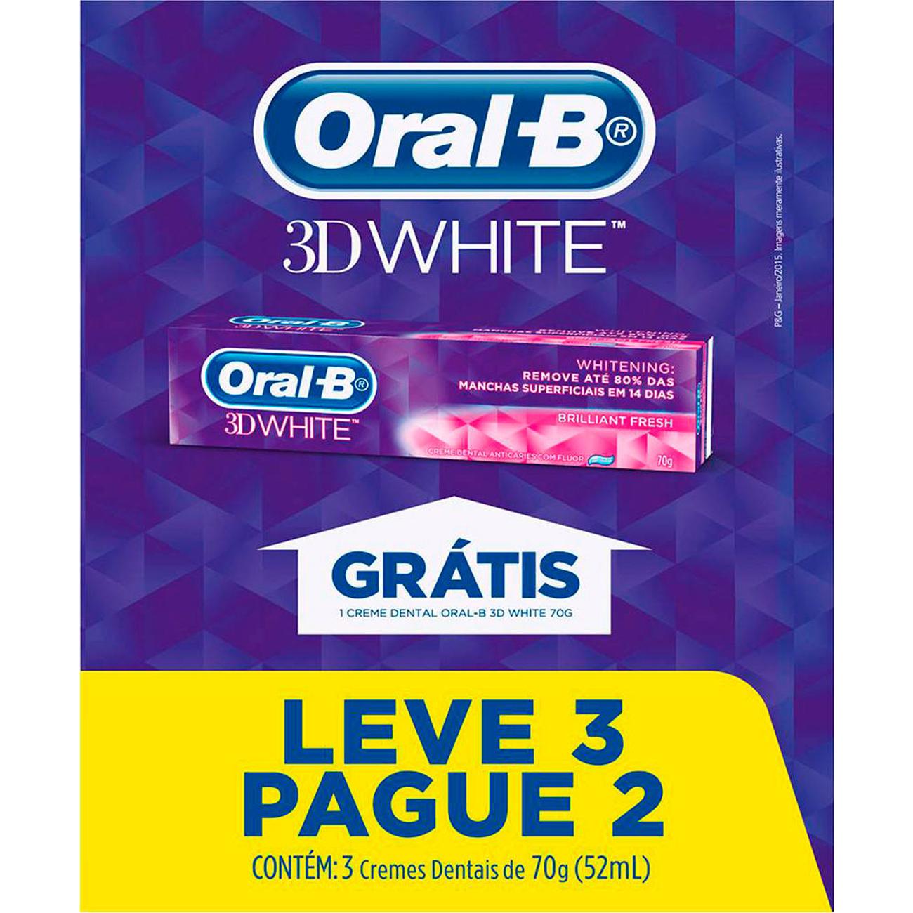 Creme Dental Oral-B 3D White 70G L3P2