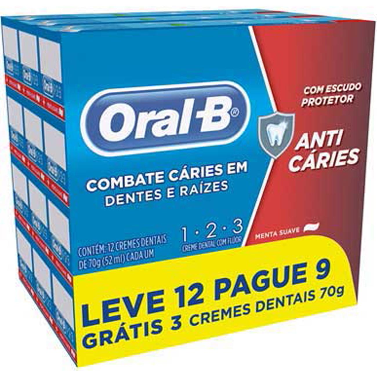 Creme Dental Oral-B 123 70G Lv12 Pg9