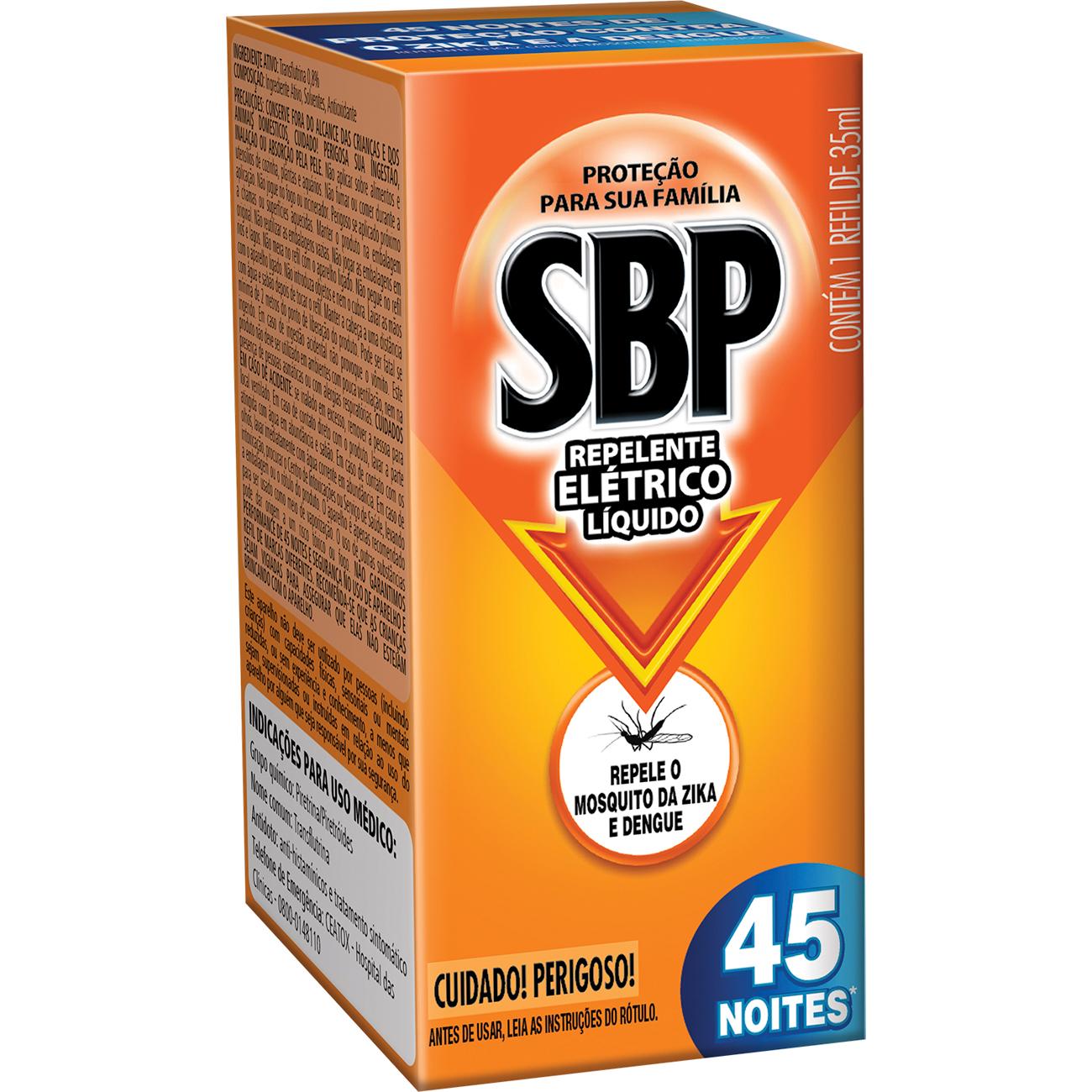 Inseticida Sbp 35Ml 45 Noites Refil