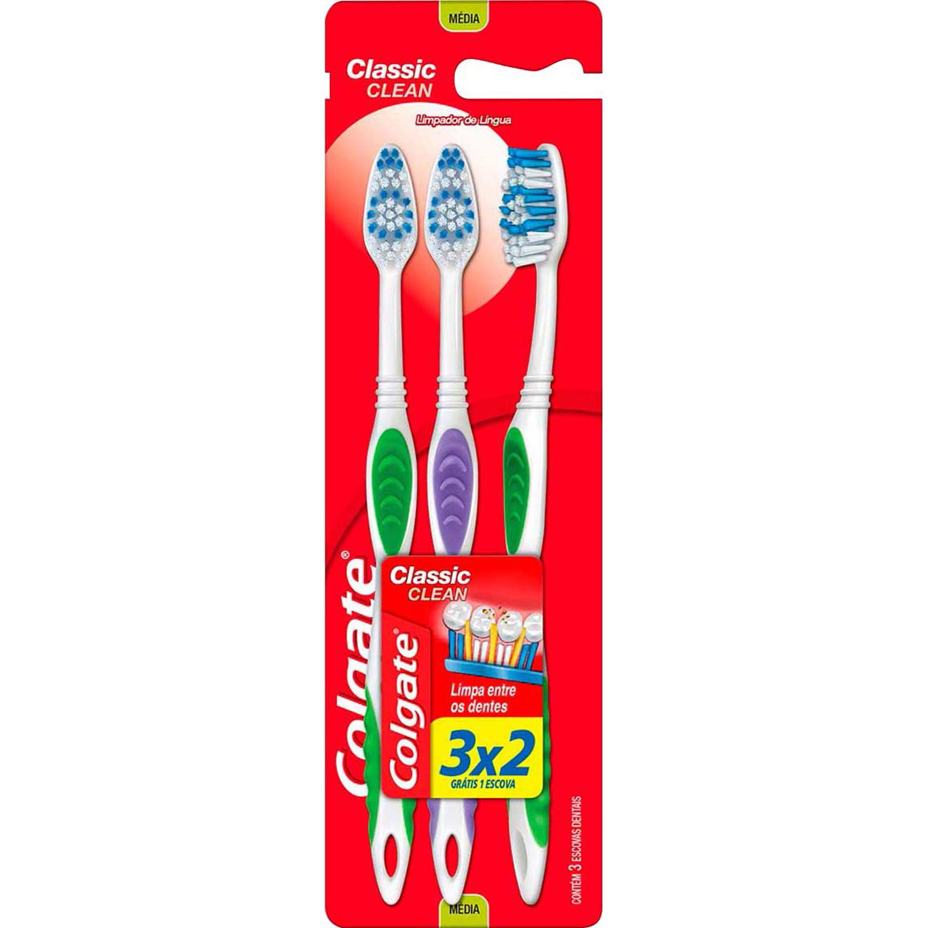 Escova Dental Colgate Classic Clean Macia 3Un Lv 3 Pg 2