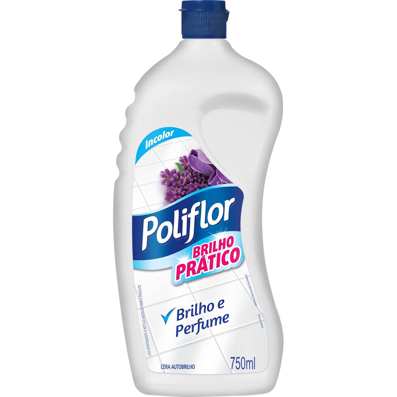 Cera Poliflor 750Ml Pratico Incolor