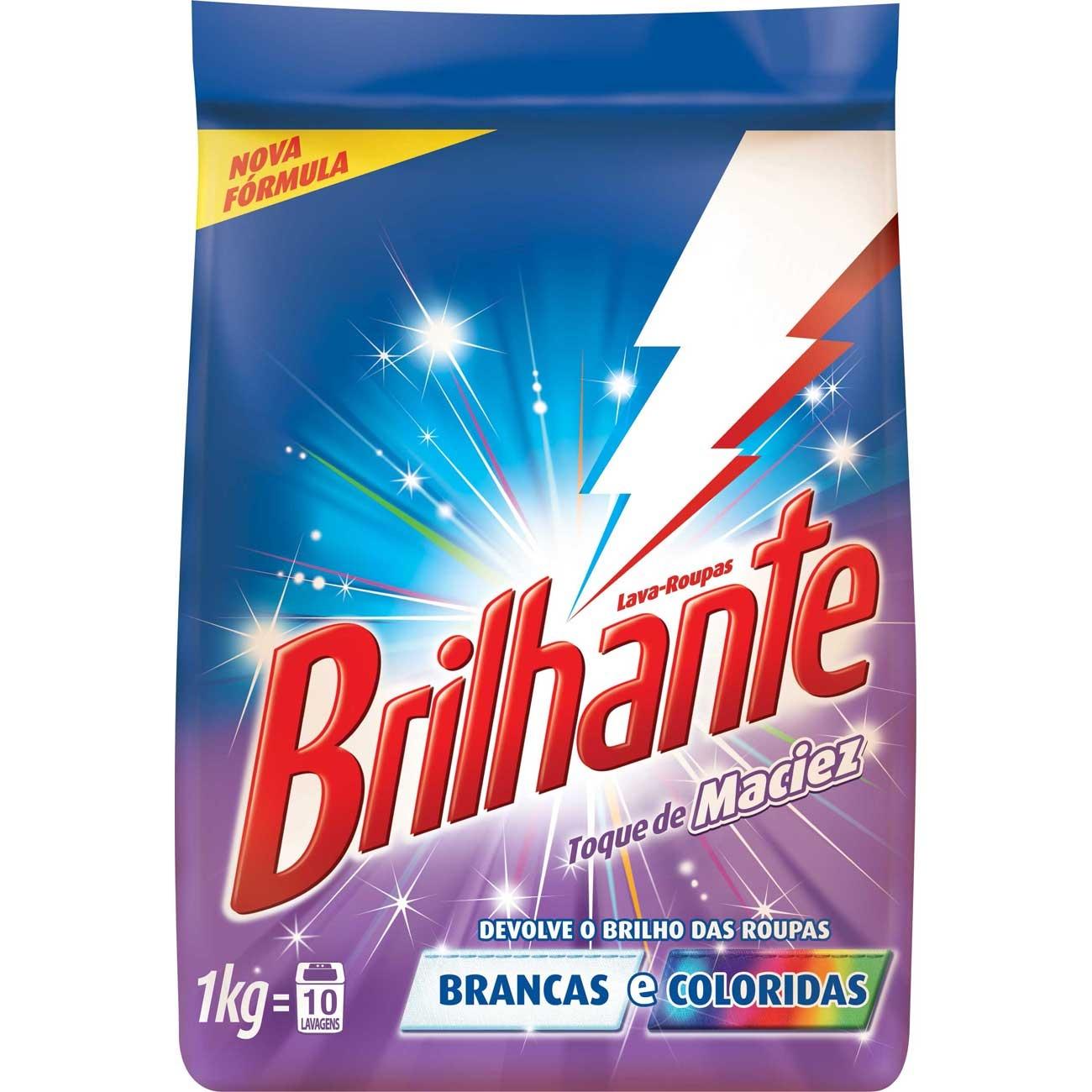 Detergente Em Pó Brilhante 1Kg