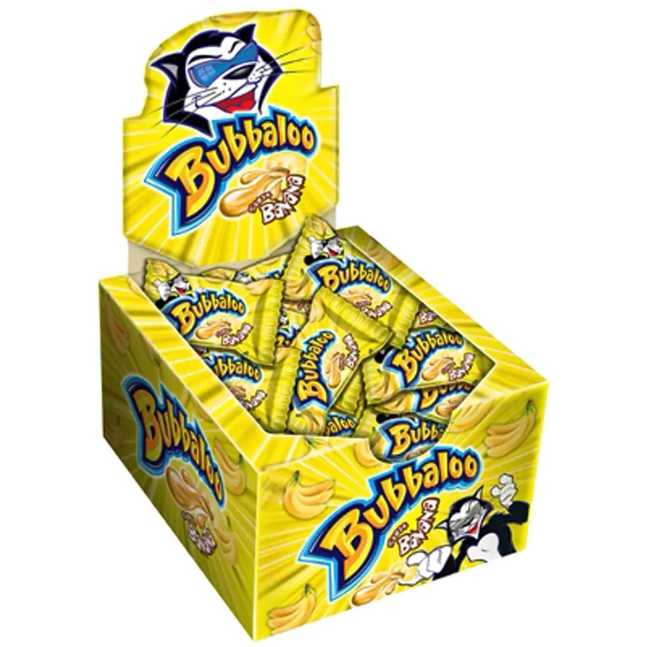 Goma de Mascar Bubbaloo 60Un Banana