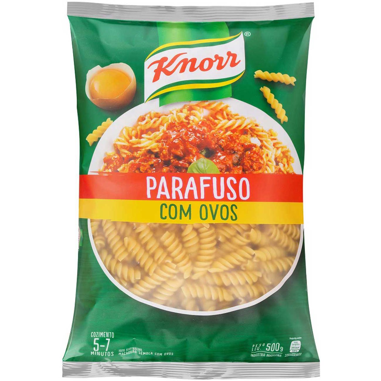 Macarrao Knorr Com Ovos Parafuso 500G