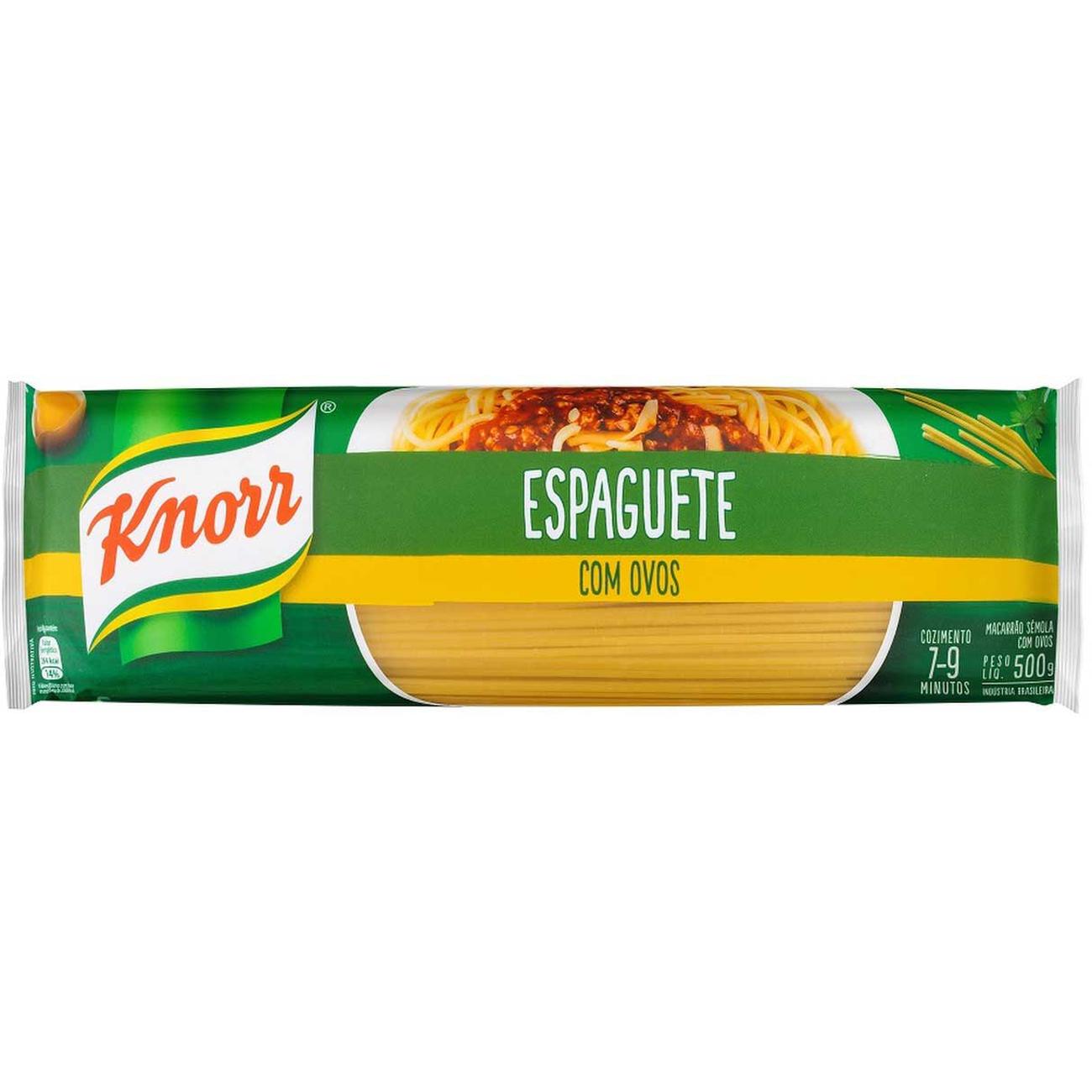 Macarrao Knorr Com Ovos Espaguete 500G