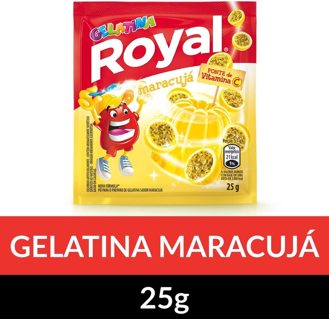 Gelatina em pó ROYAL Maracujá 25g