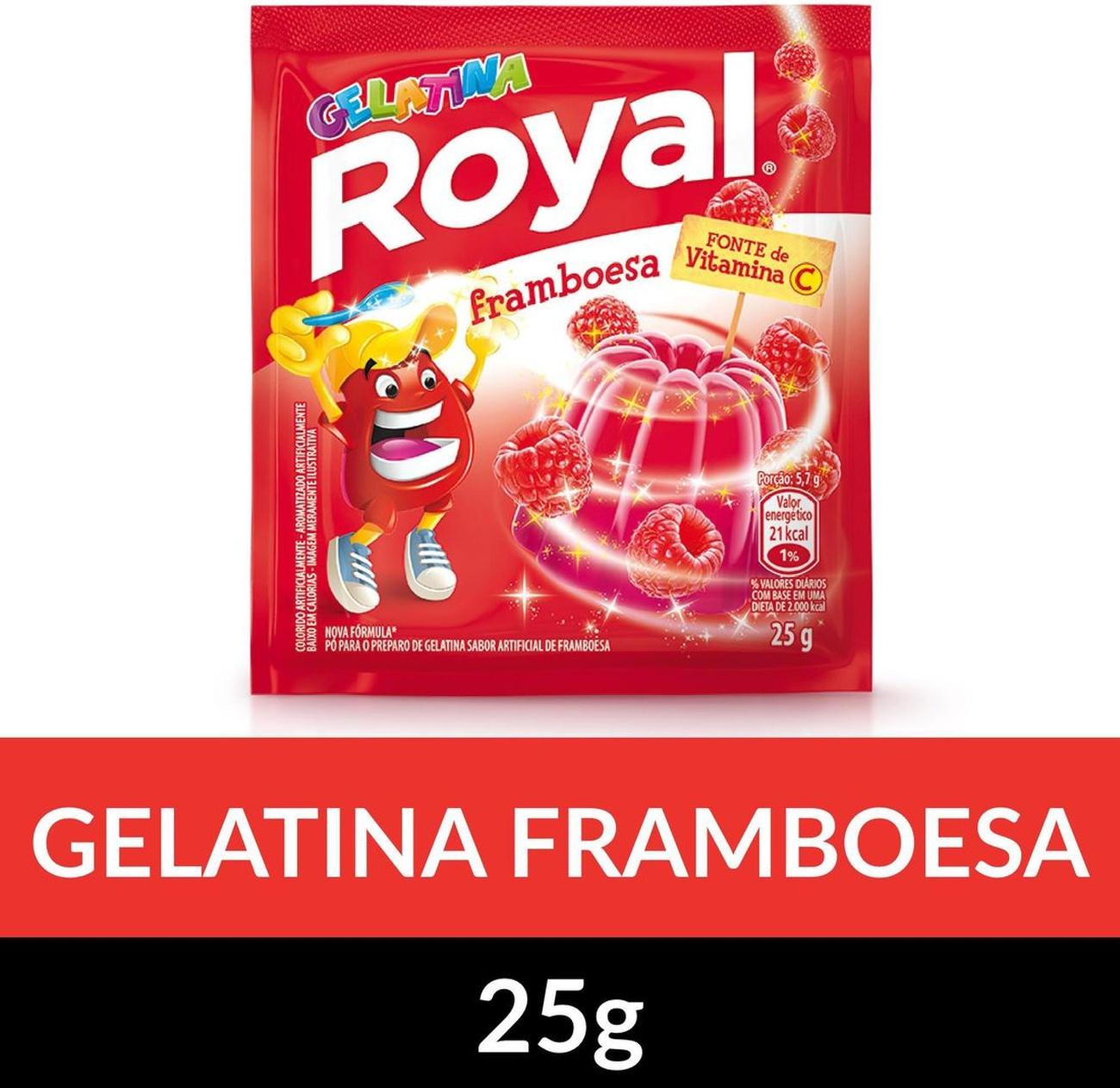 Gelatina em pó ROYAL Framboesa 25g