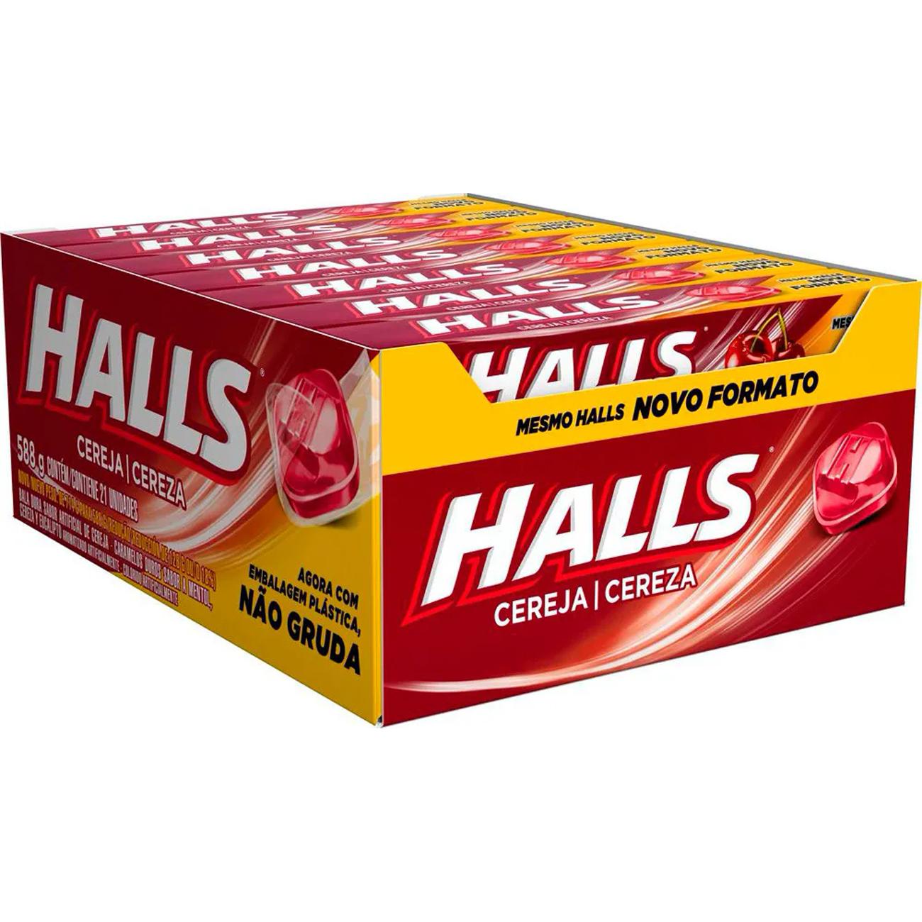 Drops Halls Cereja Novo 21 un