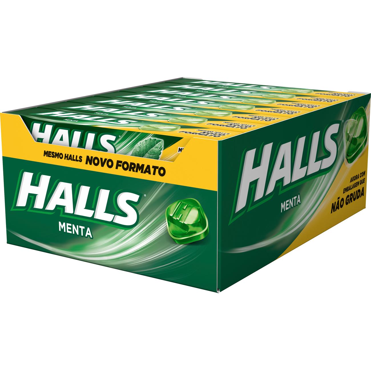 Drops Halls Menta Novo 21 Un