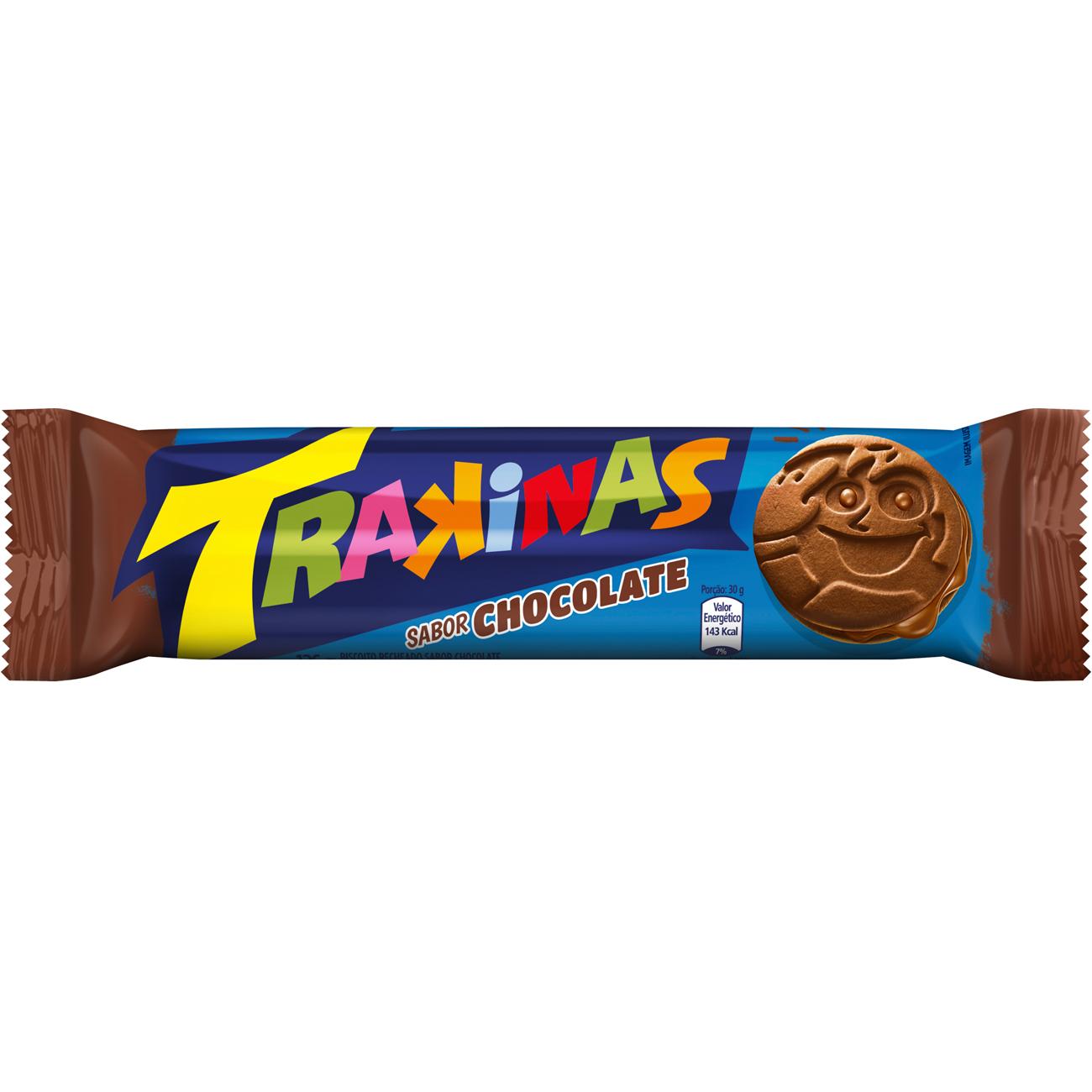 Biscoito Trakinas Chocolate 126 G