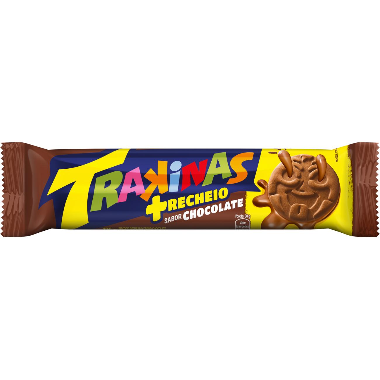 Biscoito Trakinas Mais Chocolate 126 G