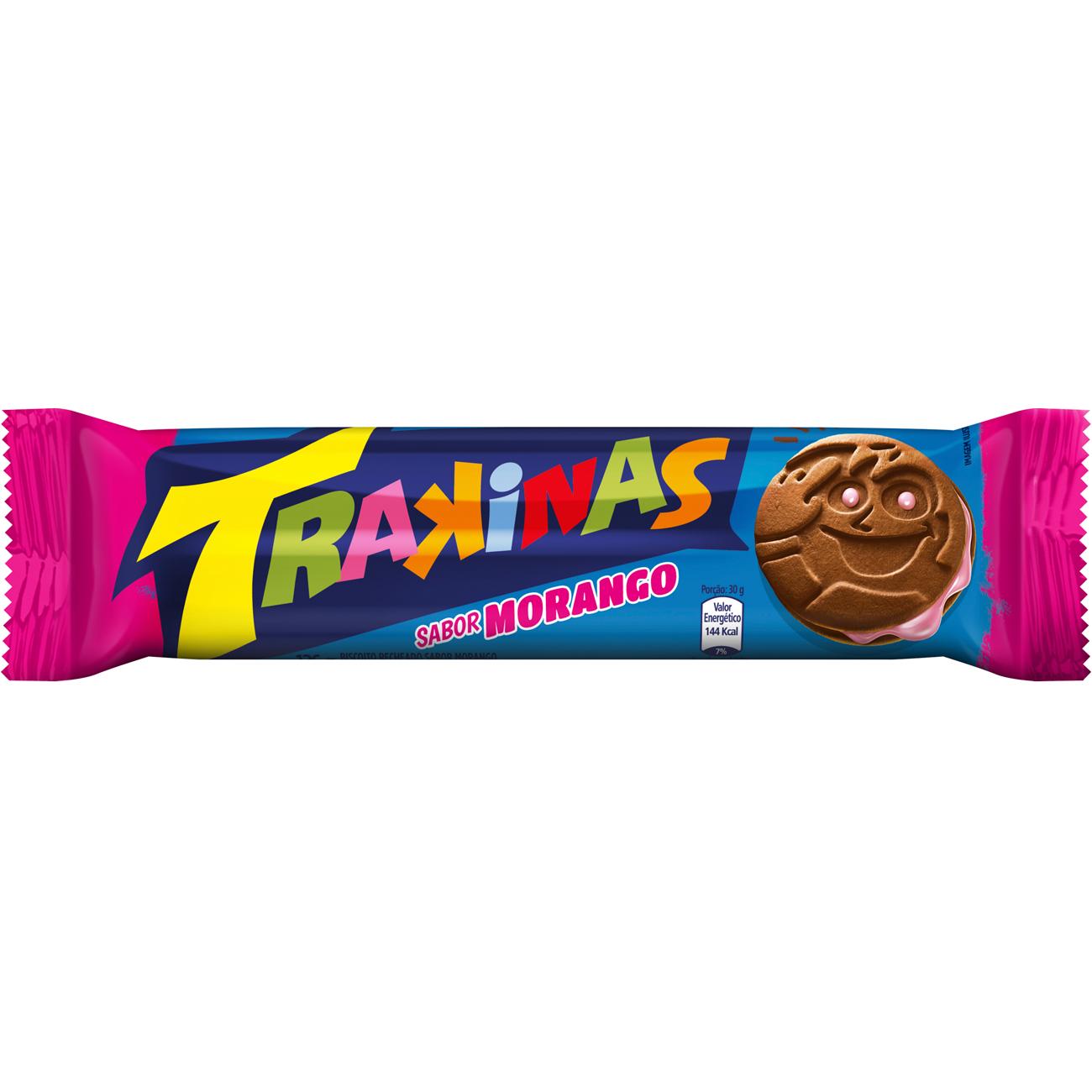 Biscoito Trakinas Morango 126 g