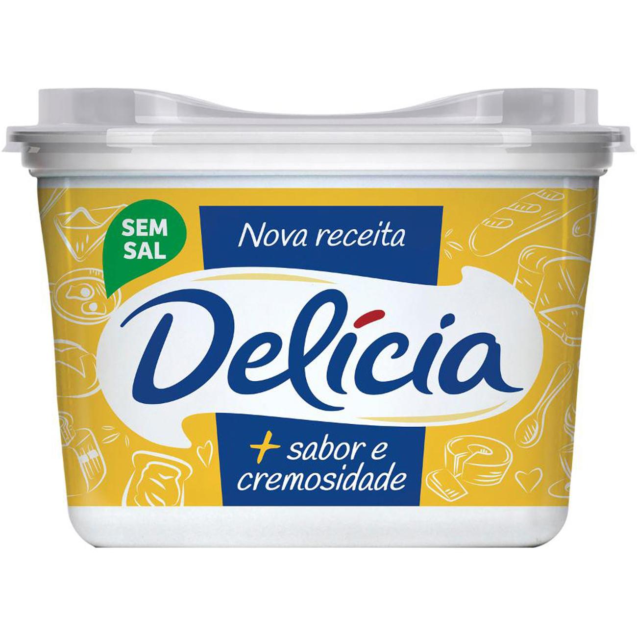 Margarina Delicia Sem Sal 500G