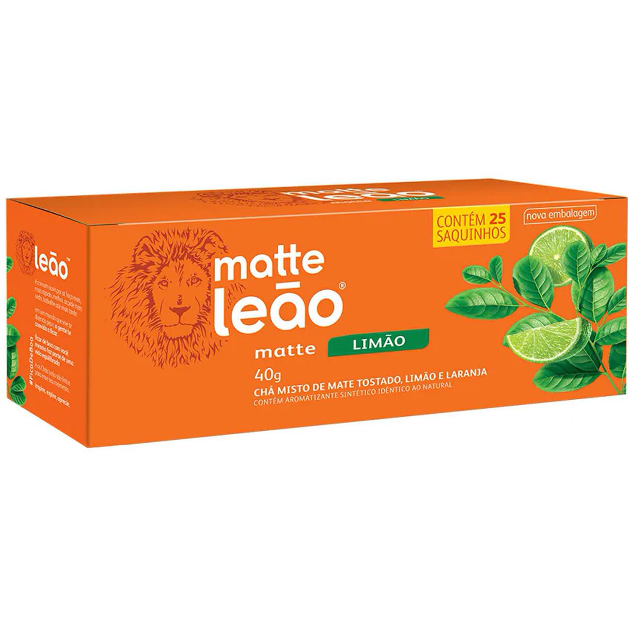Cha Matte Leao Limao 25 Saches