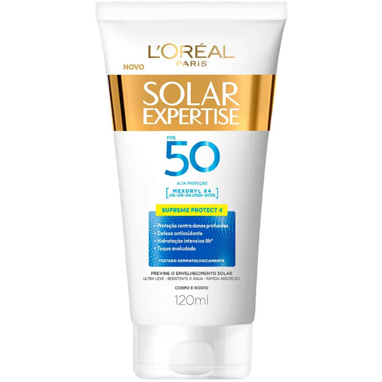 Protetor Solar LOreal Paris Solar Expertise Supreme Protect 4 FPS 50 120ml