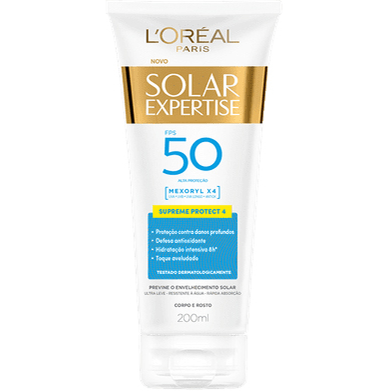 Protetor Solar LOreal Paris Solar Expertise Supreme Protect 4 FPS 50 200ml