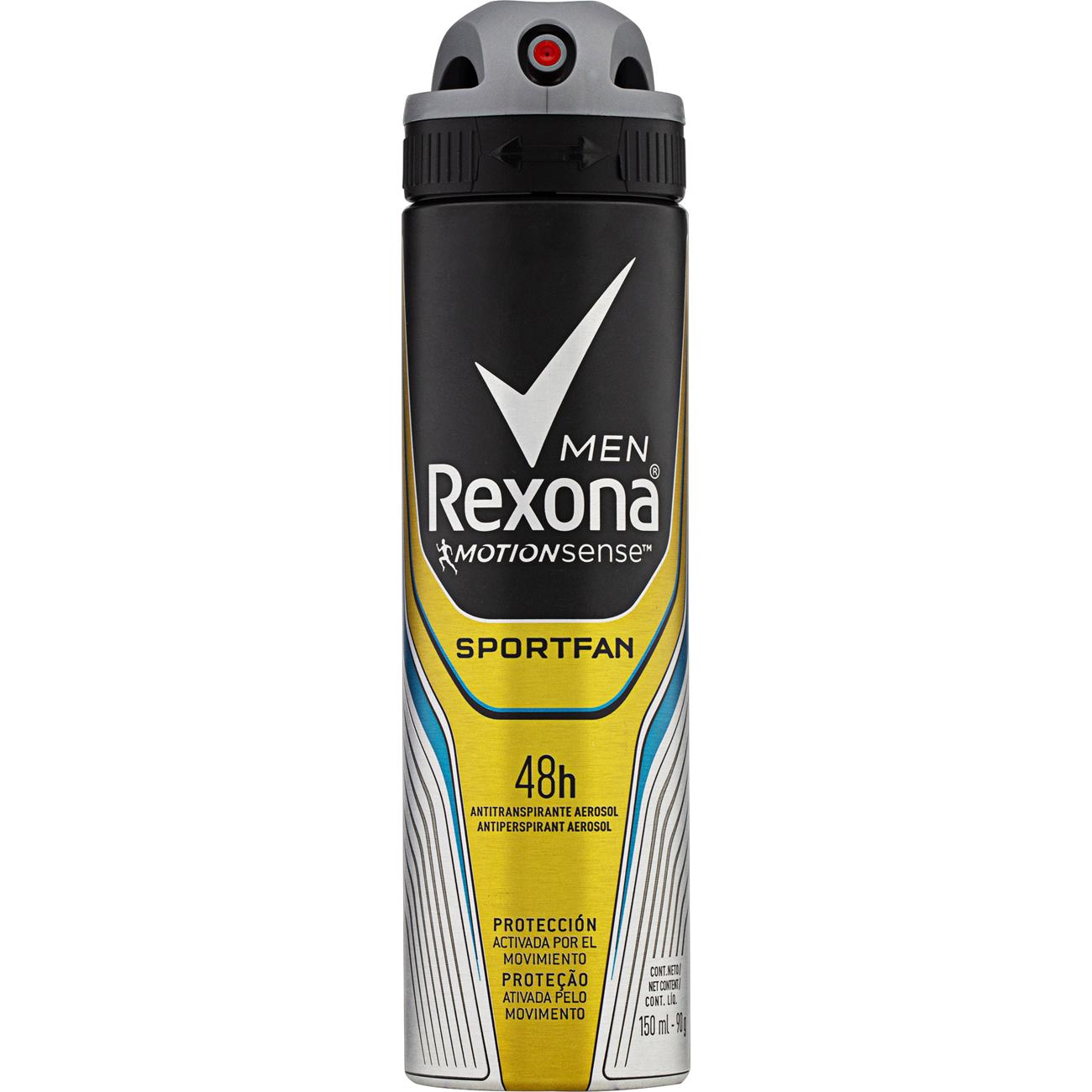 Desodorante Aerossol Rexona Men Sportfan 150Ml