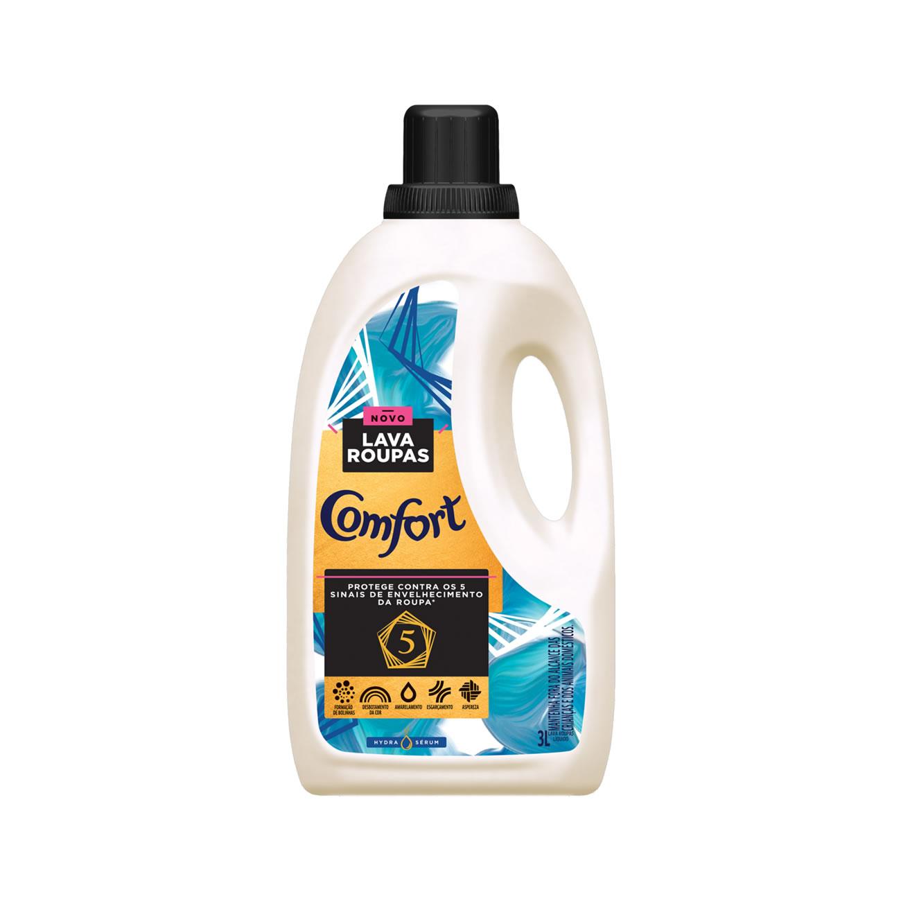 Lava Roupas Liquido Comfort Hydra Serum 3L