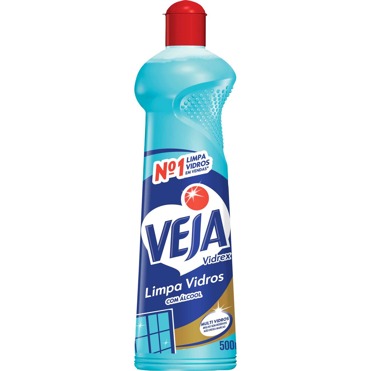 Limpa Vidro Veja Vidrex 500Ml Alcool