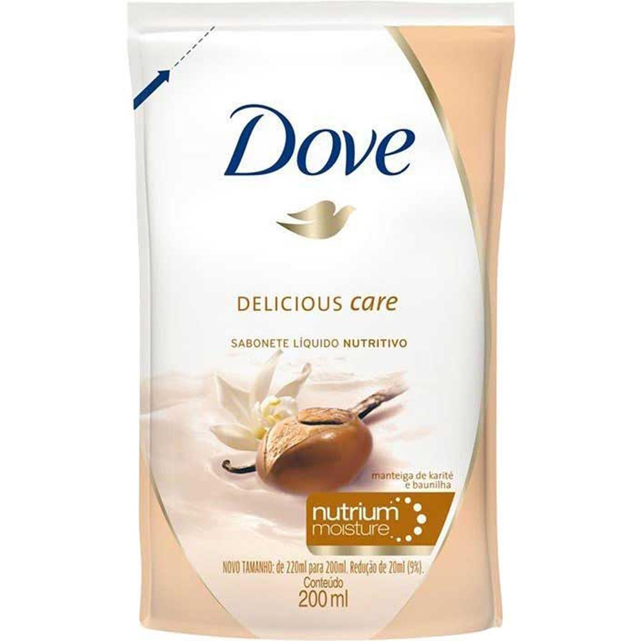 Sabonete Liquido Dove Delicious Care Refil 200Ml