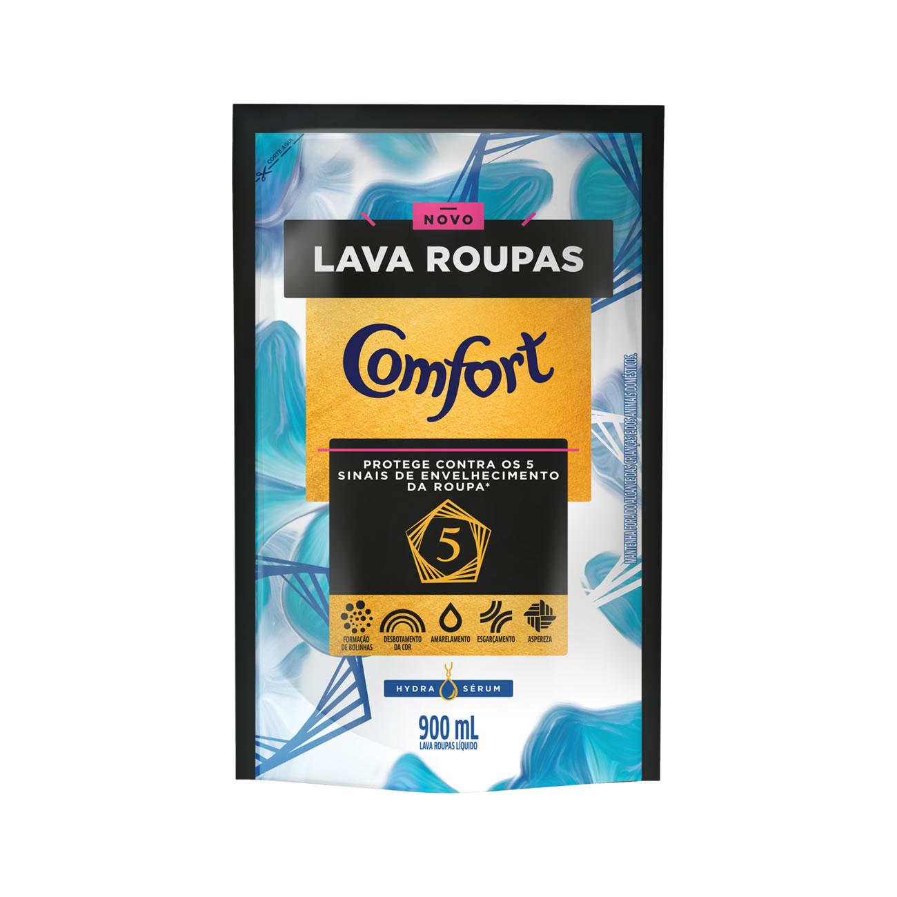 Lava Roupas Liquido Comfort Hydra Serum Refil 900Ml