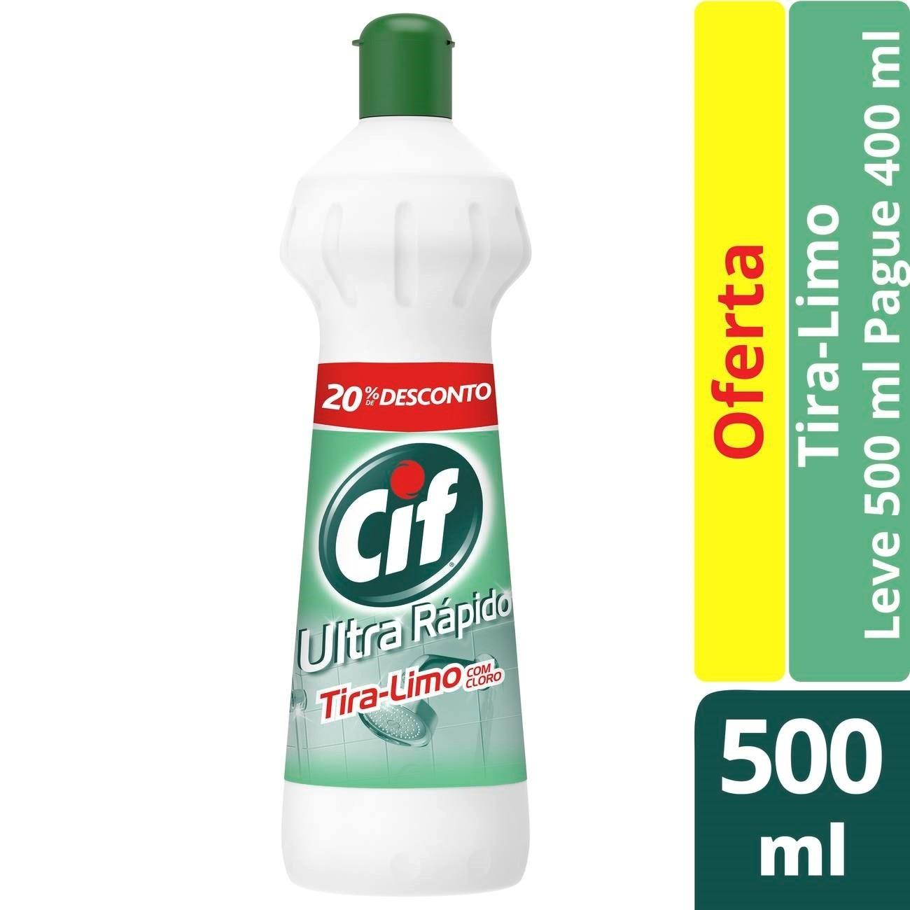 Limpador Cif Tira-Limo Com Cloro Esqueeze 500Ml